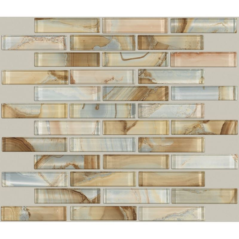 Shaw Cs49p 00200 Amber Mercury Glass 12 X 12 Rectangle Linear Mosaic Wall Tile Glass Visual Sold By Sheet 1 03 Sf Sheet In 2020 Mosaic Wall Tiles Wall Tiles Glass Tile