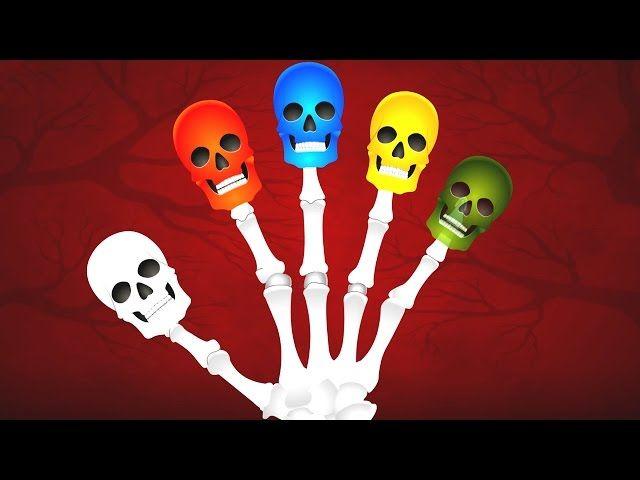 Skeleton Finger Family Compilation   Learning Colors Song