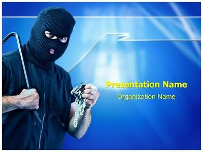 Thief Burglar Stealing Powerpoint Template is one of the