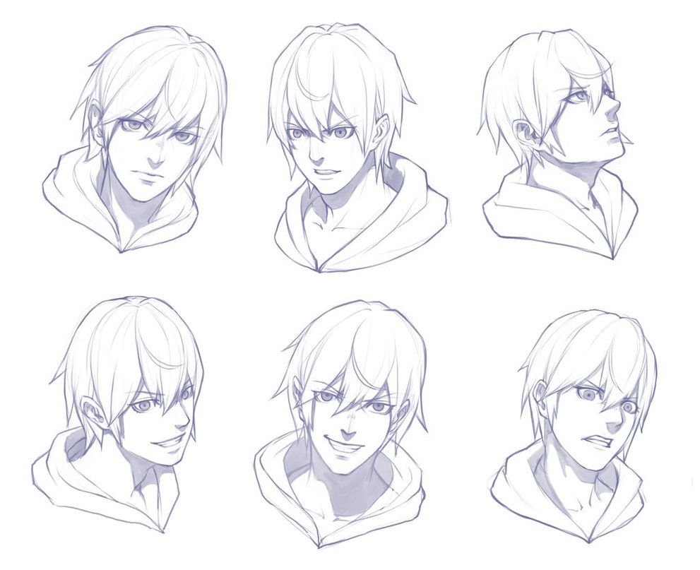 Boy Face Sketch Practice Face Sketch Anime Male Face Anime Drawings