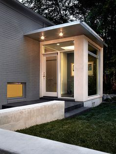 Brick And Glass Porches Google Search Porch Design Modern