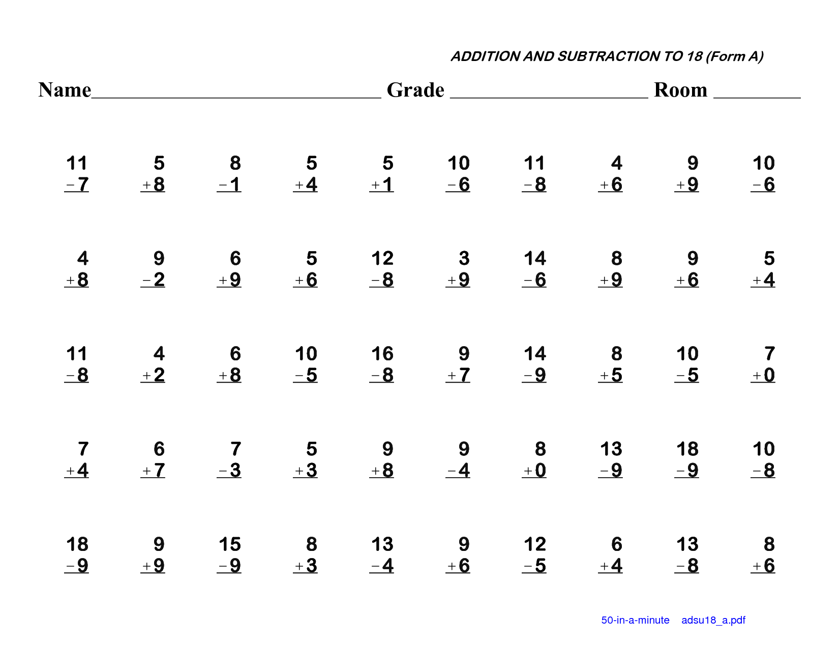 math worksheet : here you will find a selection of first grade fun math worksheets  : Mad Minute Worksheets Addition