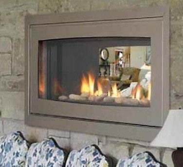 Majestic Echelon Stainless Steel Indoor/Outdoor See-Thru Fireplace ...