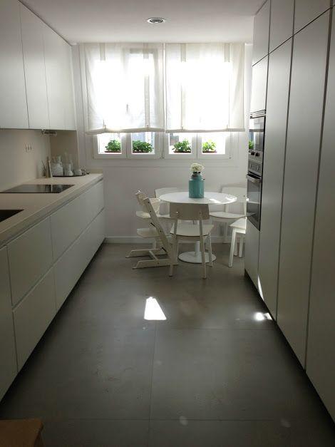 Cuines Santos I Modell Line Blanc Seda Mat Santos Huelva Cocinas Y Banos Cocinas Pequenas Diseno De Interiores