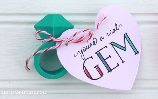 Free Printable Valentine: You\'re a Real Gem | Holidays, Craft and ...