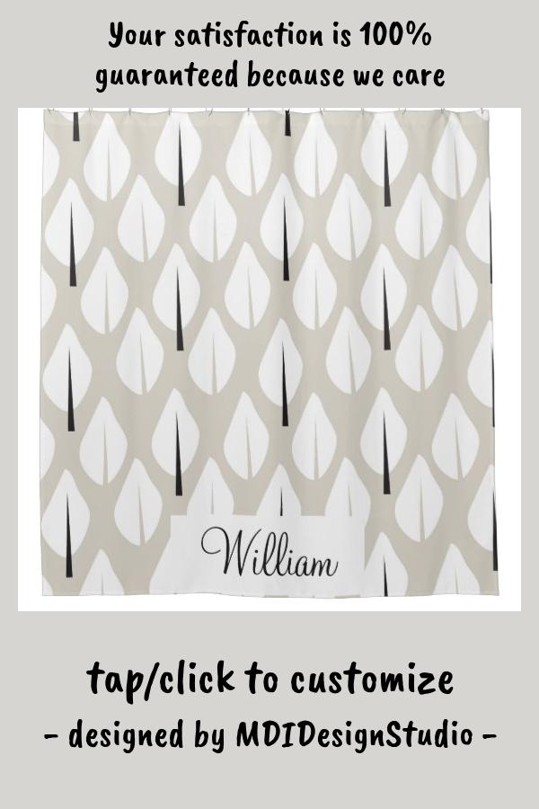 Modern crisp organic pattern shower curtain | Zazzle.com