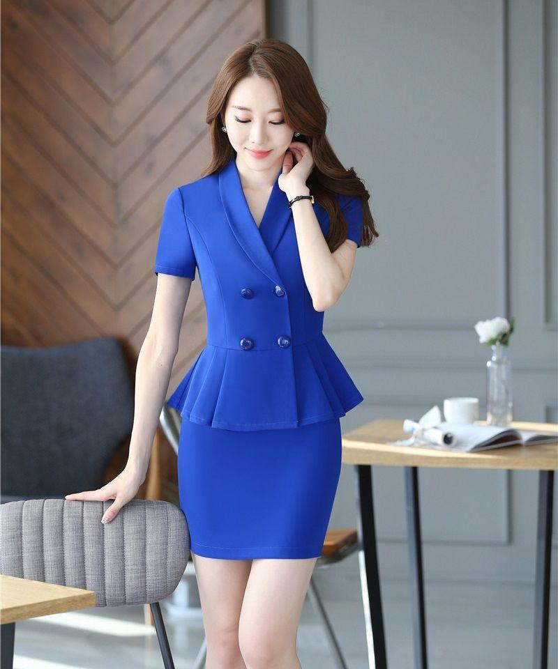 Vestidos Azules, Moda Vestidos, Trajes Elegantes Para Mujer, Trajes Para  Dama, Vestido Fácil, Ideas De Traje, Chaquetas, Moda Para Mujer, Para  Mujeres