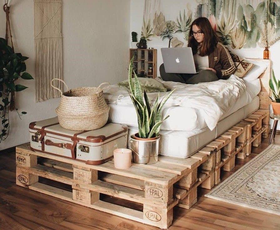 Wood Pallet Diy Creative Reusing Ideas Pallet Furniture Bedroom