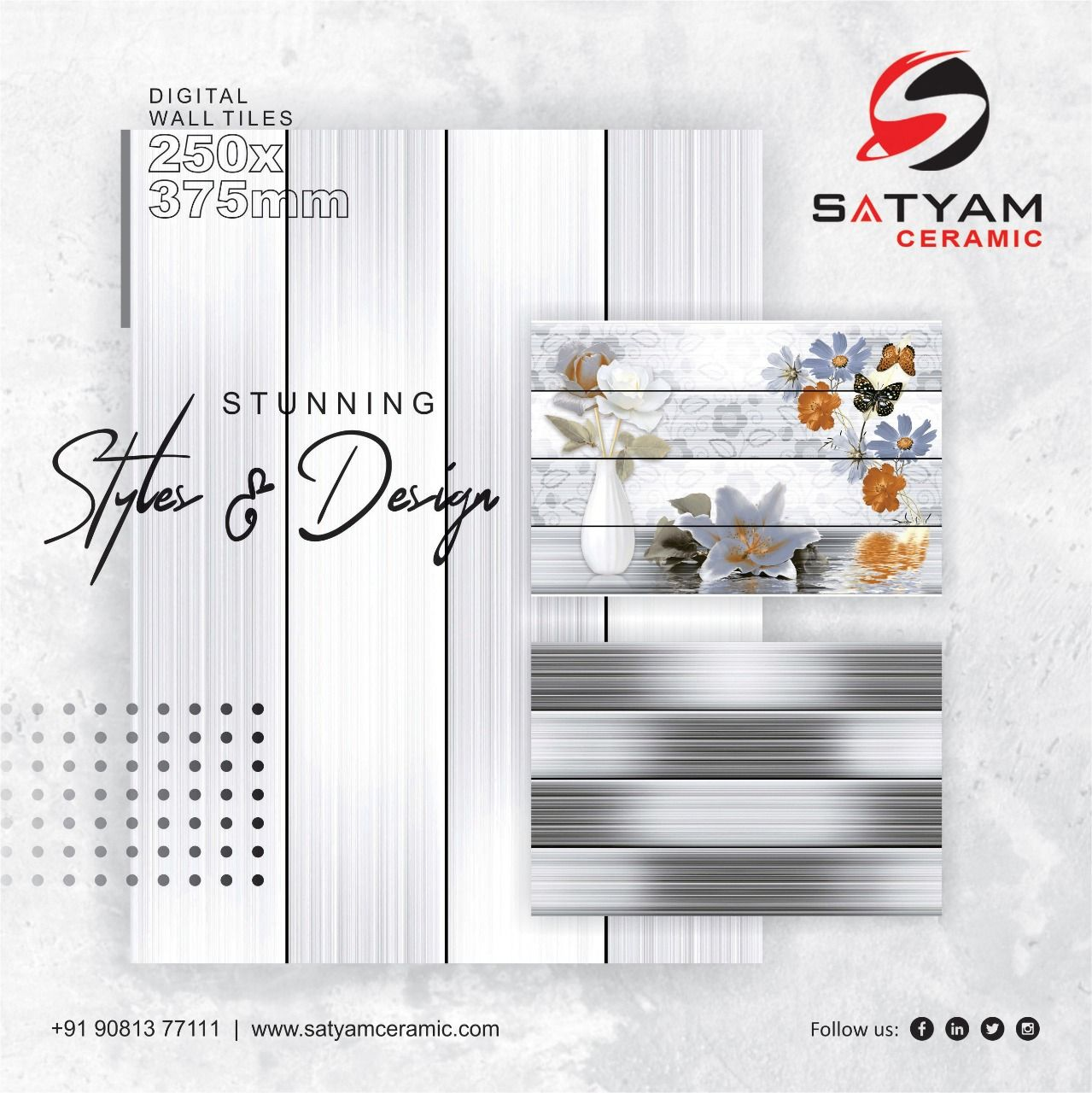 Stunning Styles Design Satyam Ceramic Digital Wall Tiles 250x375 Mm Satyamceramic Satyamtiles Digitalwalltiles Walltile Wall Tiles Digital Wall Tiles