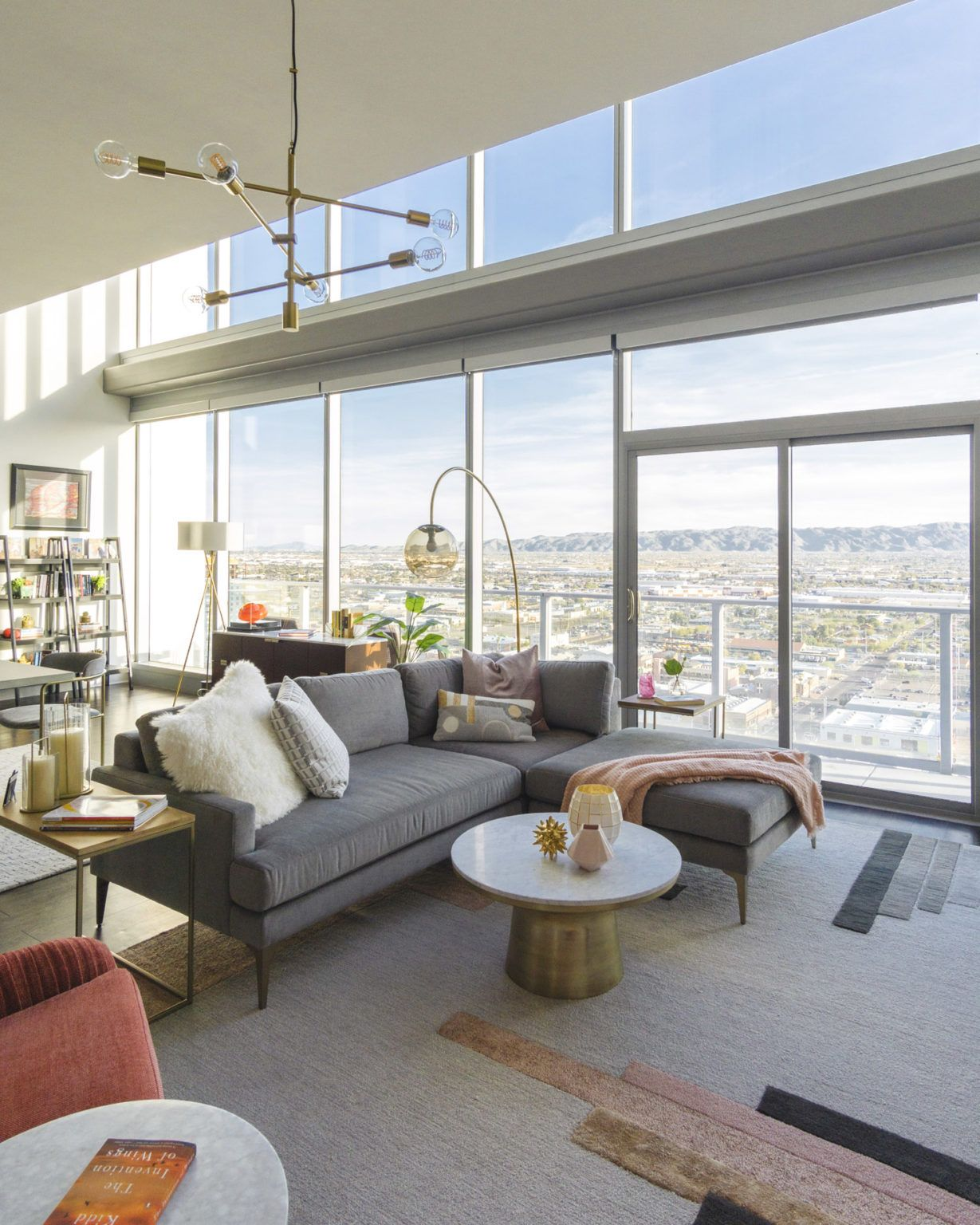 Design Crew Embracing FloortoCeiling Sunset Views in a