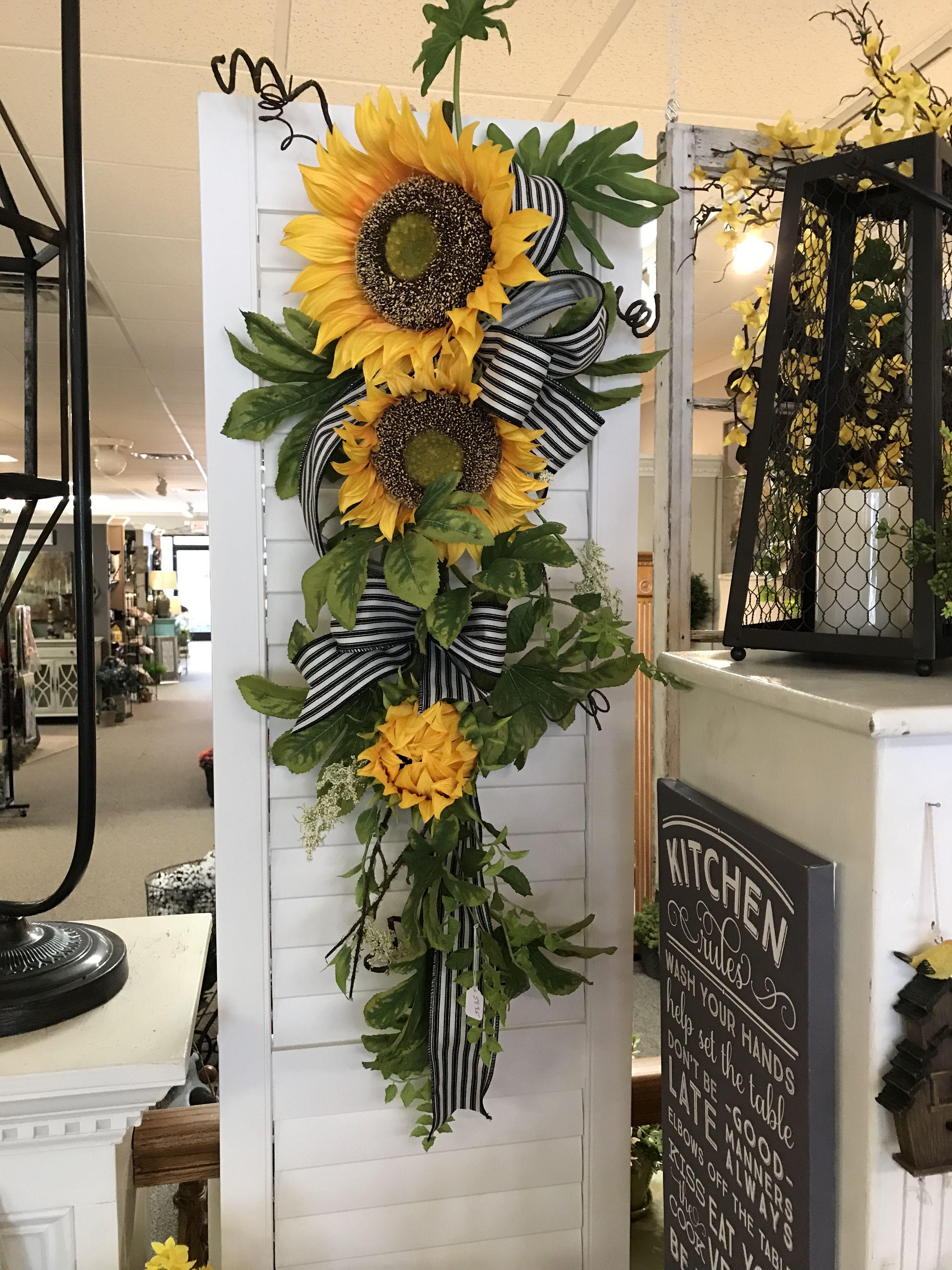 Sunflower Swag Wreath Fall Wreaths Door Wreaths Wreath