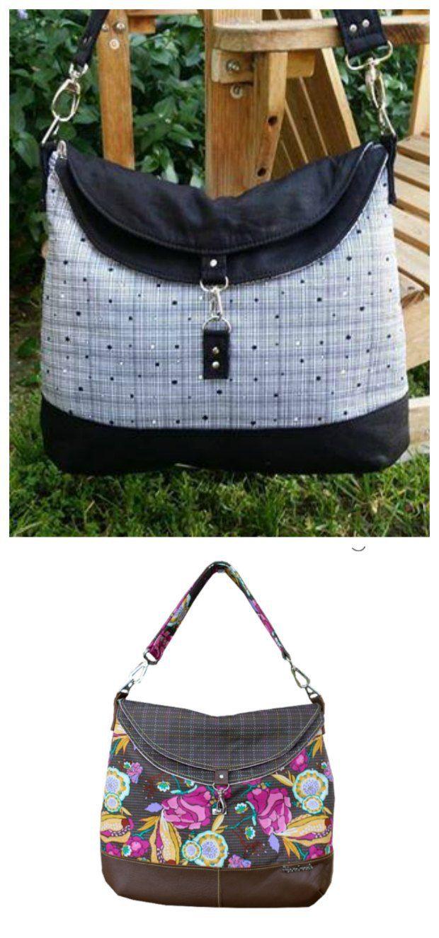 The Hippo Hobo Bag | Taschen nähen, Nähen und Patchwork-Taschen