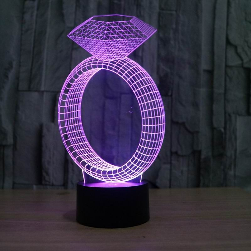 Ring Lampeez The Ring 3d Led Illusion Lamp Is A Combination Of Art And Technology That Creates An Optical 3d Illusion Lamparas 3d Letreros Acrilicos Lamparas
