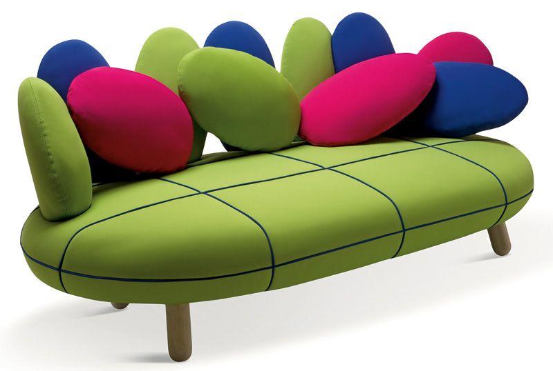 Gumdrop Looking Sofa In Vivid Colors Colorful Sofa Pillows Sofa Design Modern Sofa Designs