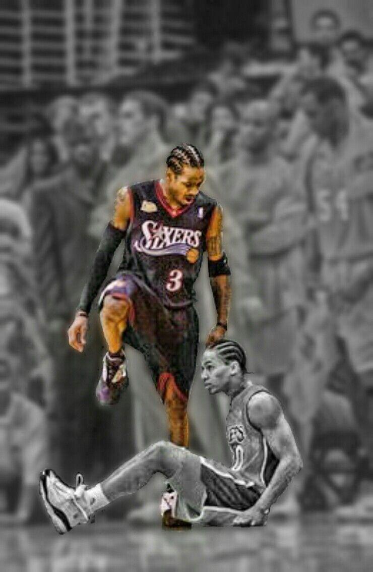 Nba Players Iphone Wallpaper Allen Iverson Step Allen Iverson Nba Basketball Allen