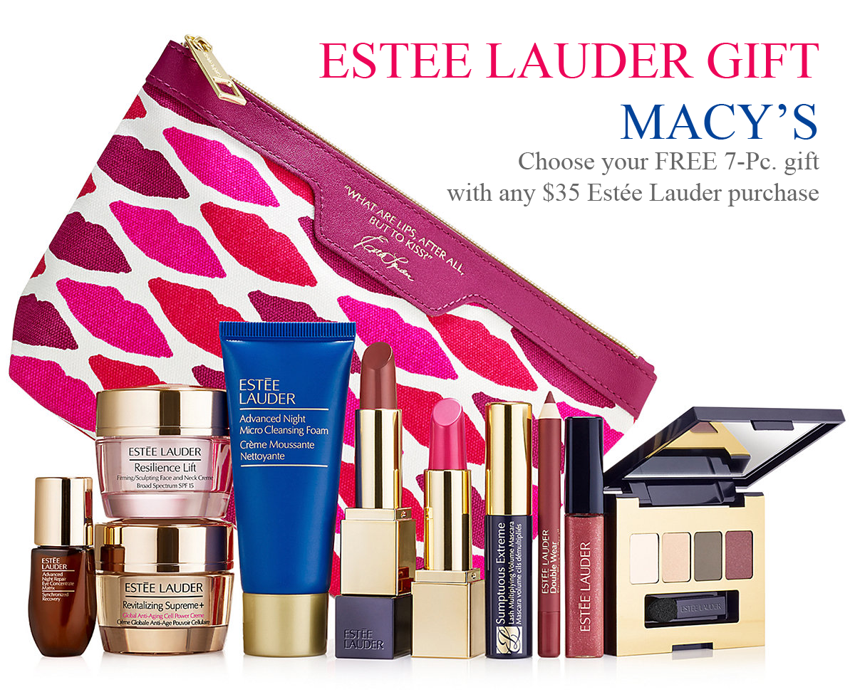 Estee Lauder GWP promotion at Macy's spend over 35 and