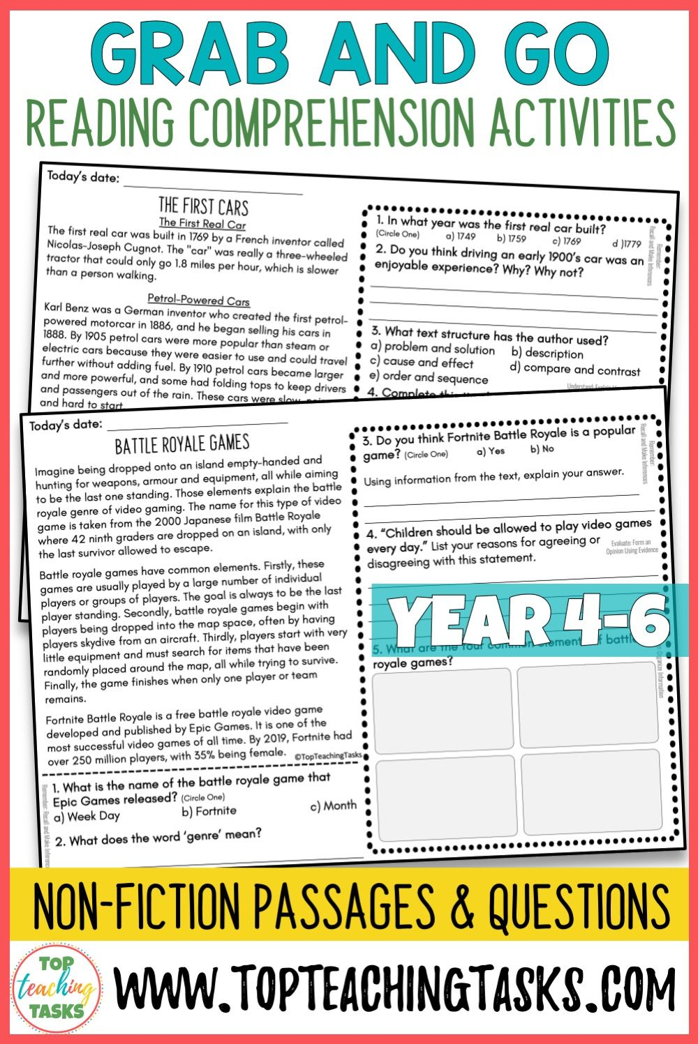 Non Fiction Reading Comprehension Passages And Questions Year 4 5 And 6 Top Teaching Tasks Reading Comprehension Reading Comprehension Passages Comprehension Passage [ 1497 x 1000 Pixel ]