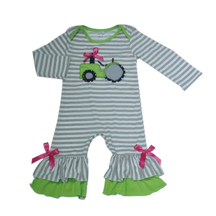 af3543f42 This adorable my big green tractor romper is fun for outings this ...