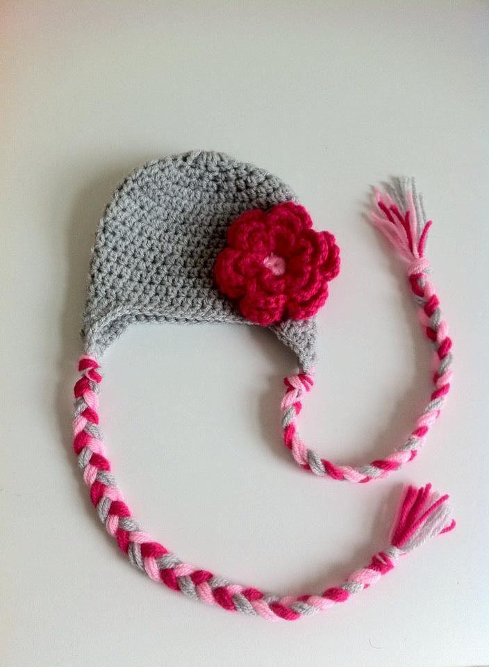 8a0f53adf0111 bonnet bebe fille en laine fait main au crochet fleur fuchsia : Mode Bébé  par chtiewie