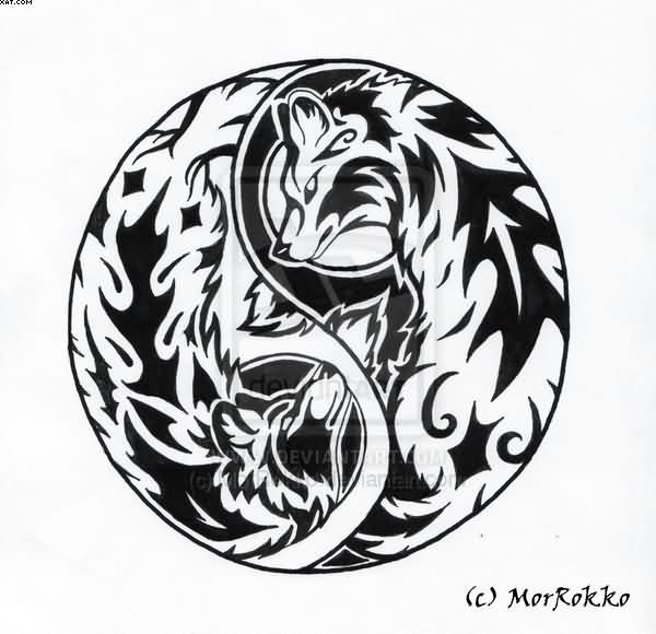 Ying Yang Tattoos And Designs Page 5 Tatuajes Yin Yang Tatuaje Maori Tatuaje Redondo