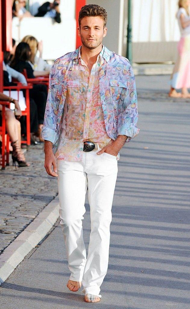 White pants flip flops men | Selfish Motive | Pinterest | Resort ...