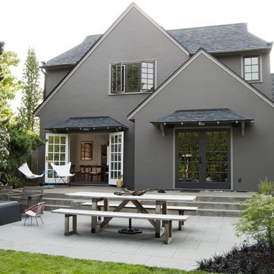 Gray Stucco With Quoins Design, Pictures, Remodel, Decor and Ideas ...