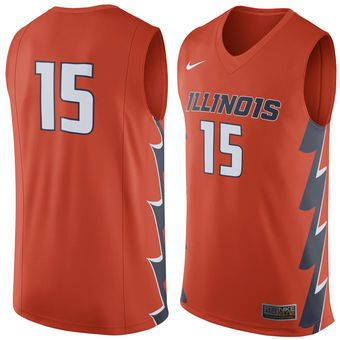 852641e216c Nike Illinois Fighting Illini Orange Replica Basketball Jersey #illini # illinois #fightingillini