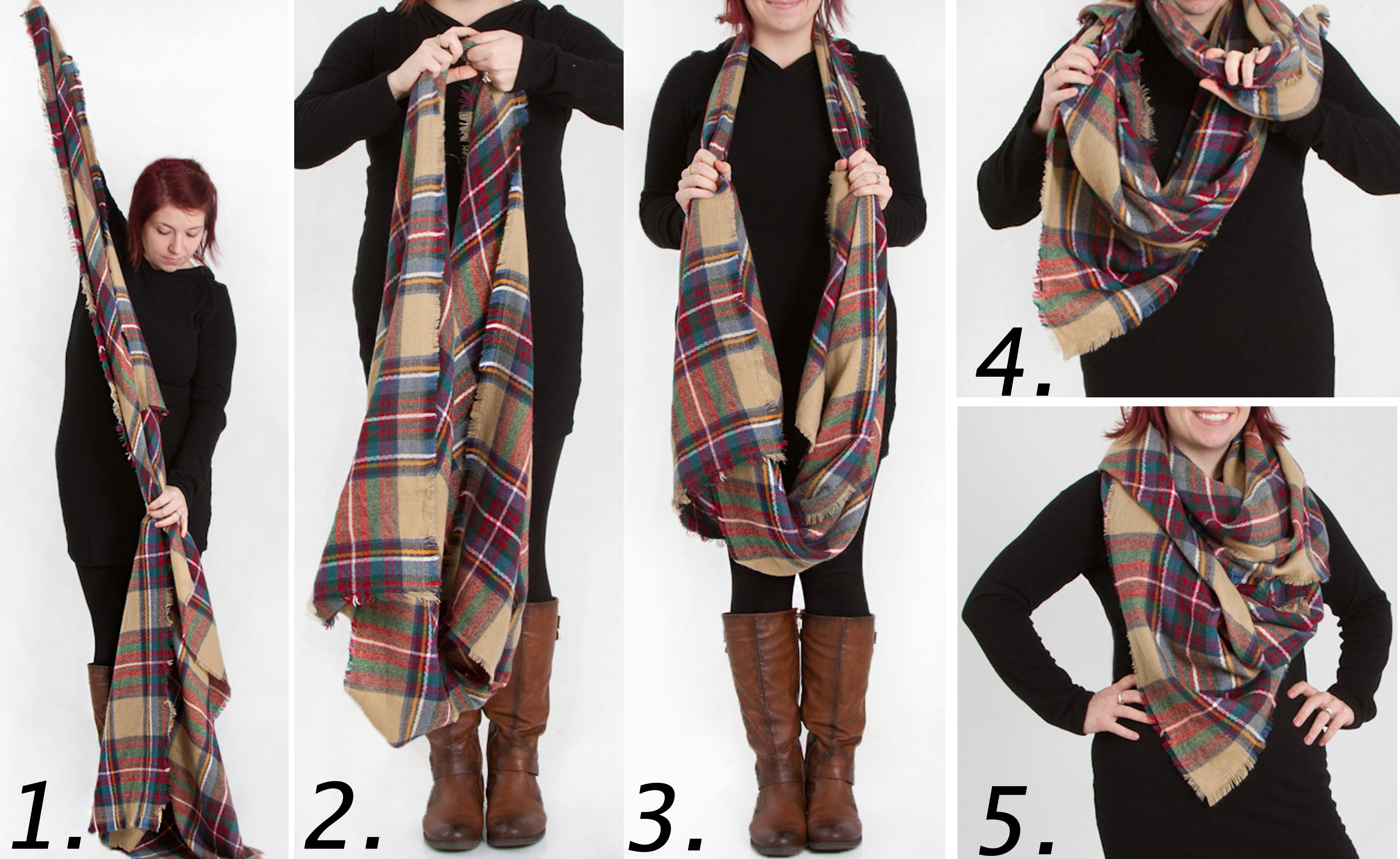 51cdf8111156 4 Ways to Wear a Blanket Scarf  Look By M Tartan Plaid Scarf from Gliks.com