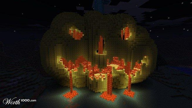 Halloween Pumpkin Build Minecraft Fall Pinterest Minecraft - Minecraft hauser pocket edition