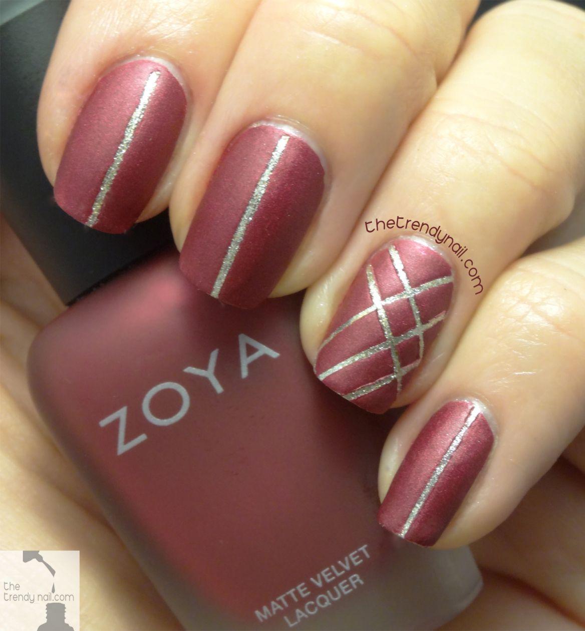 Holiday-Nail-Art- Matte Posh by Zoya & Jiggle hi, jiggle low by ...
