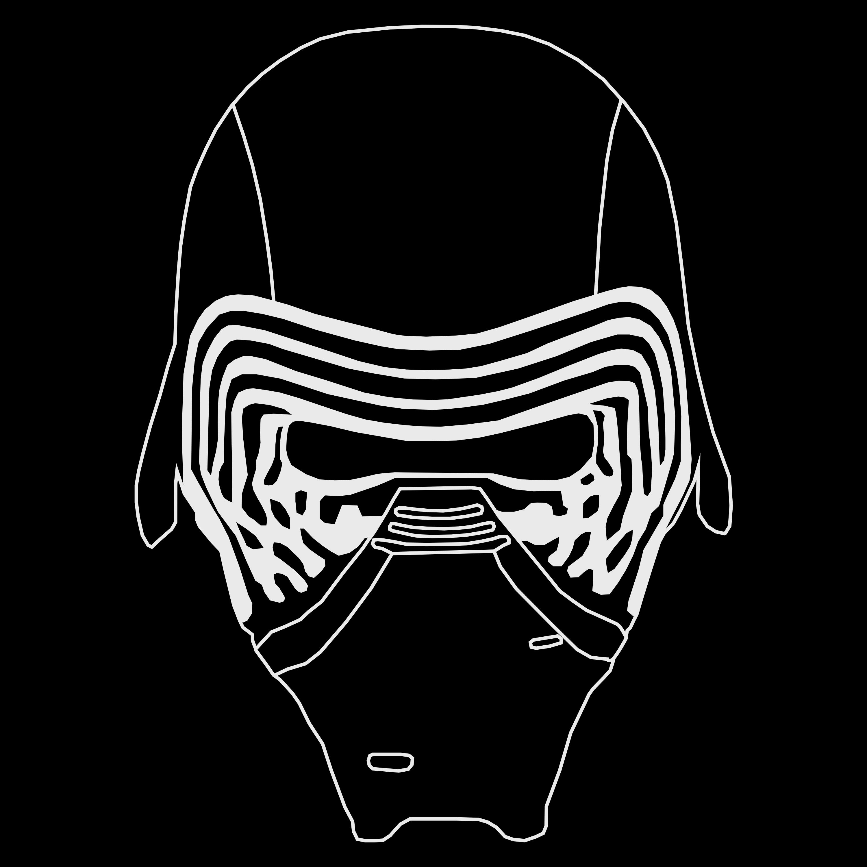 Kylo Ren Helmet Mask Vektor Graphic Kylo Ren Helmet Star Wars Painting Kylo Ren