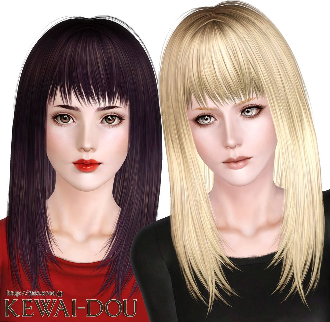 Kewai Dou Free Download Smooth And Shiny With Bangs