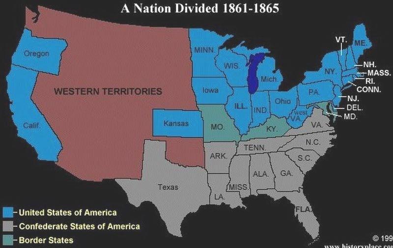 1861 1865 Nation Divided