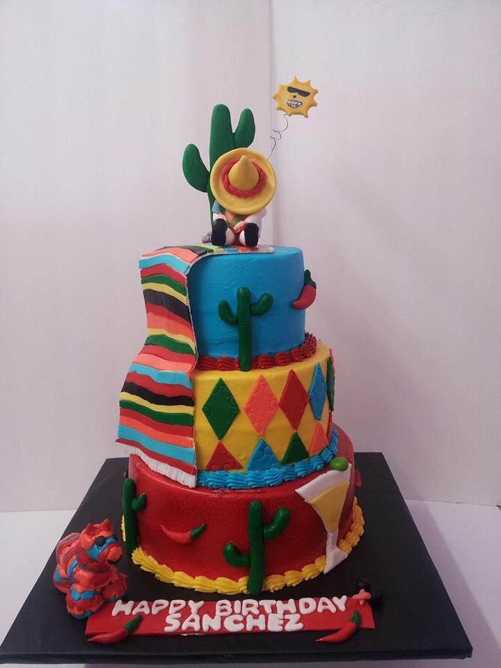 fiesta themed wedding cake mexican theme cake cool cakes 4 mexique 14226