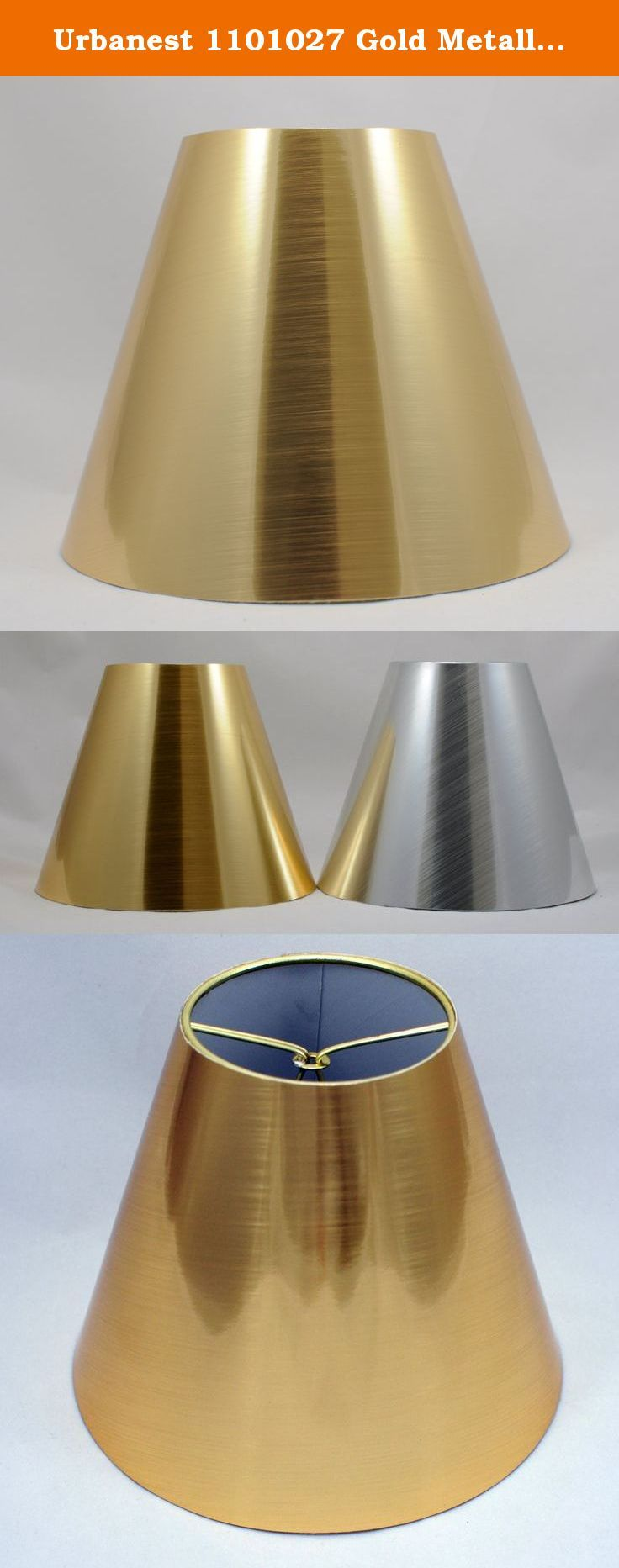 Urbanest 1101027 gold metallic chandelier lamp shades 6 inch urbanest 1101027 gold metallic chandelier lamp shades 6 inch clip on urbanest aloadofball Image collections