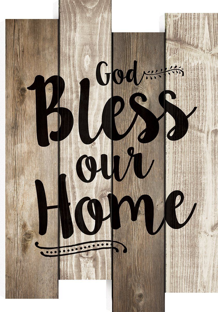 Amazon Com God Bless Our Home 20 5 X 14 Inch Wood Staggered Pallet