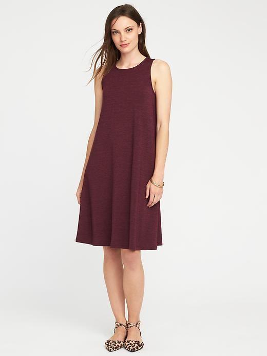 92d95edec473be Sleeveless Jersey-Knit Swing Dress for Women