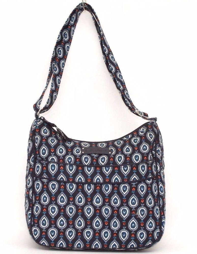 7843a2ef0b5 Vera Bradley Navy Blue Marrakesh Motifs Hobo Bag Crossbody Purse   VeraBradley  crossbodybag  purse  bags  fashion  style