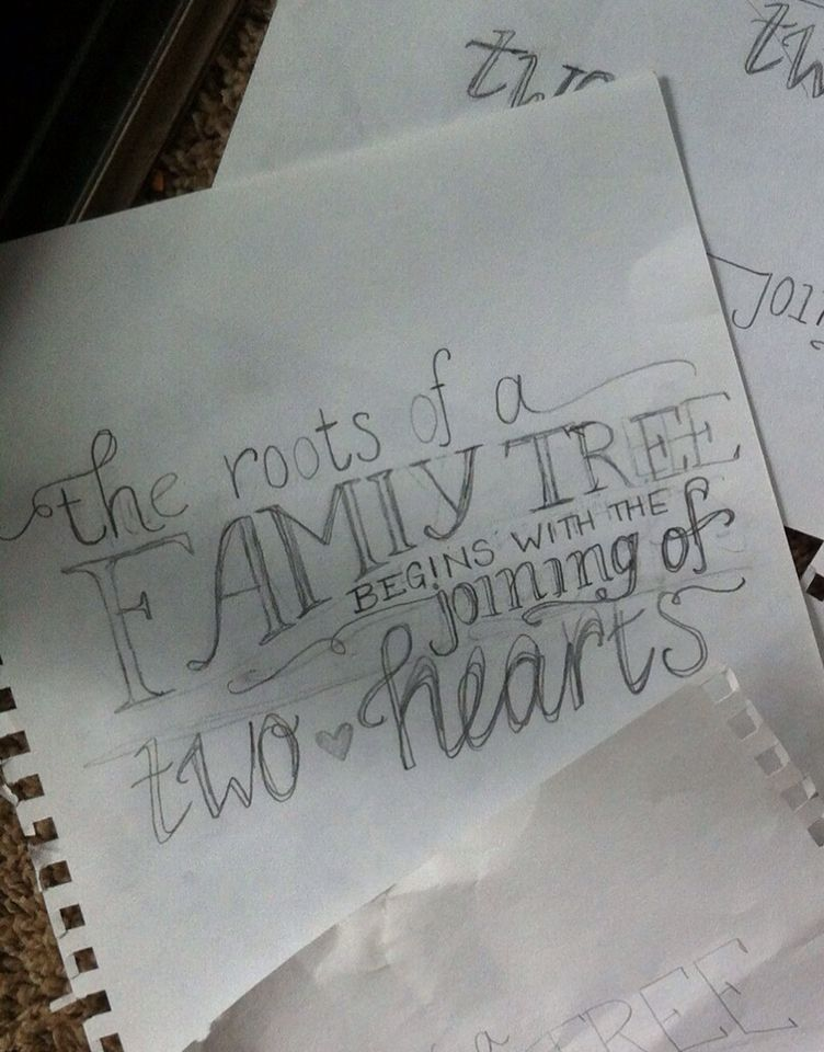 Rough sketch of quote for chalkboard by heritage wedding photos