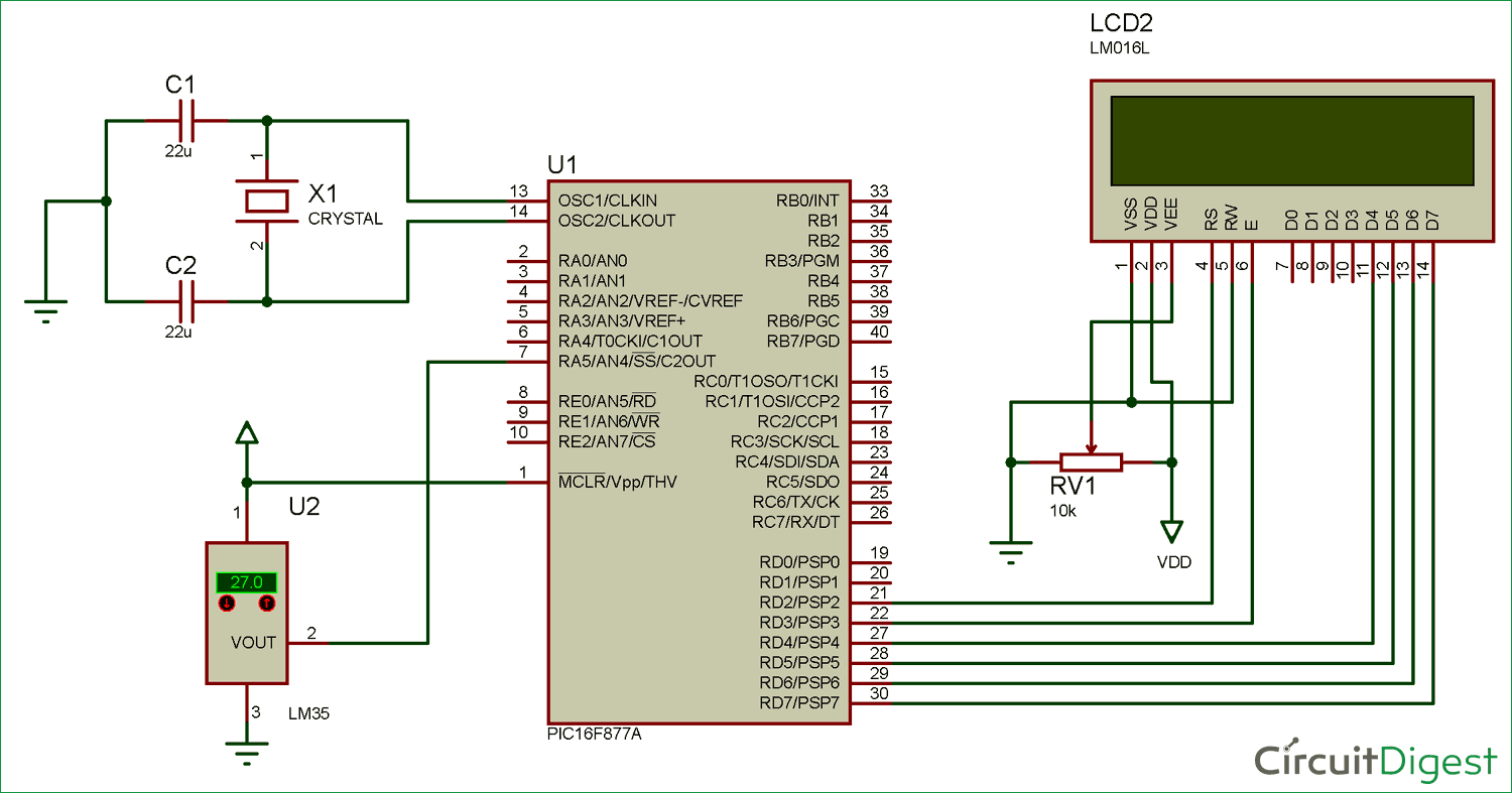 Digital Thermometer Circuit Electronic Circuits And Diagram - Wiring