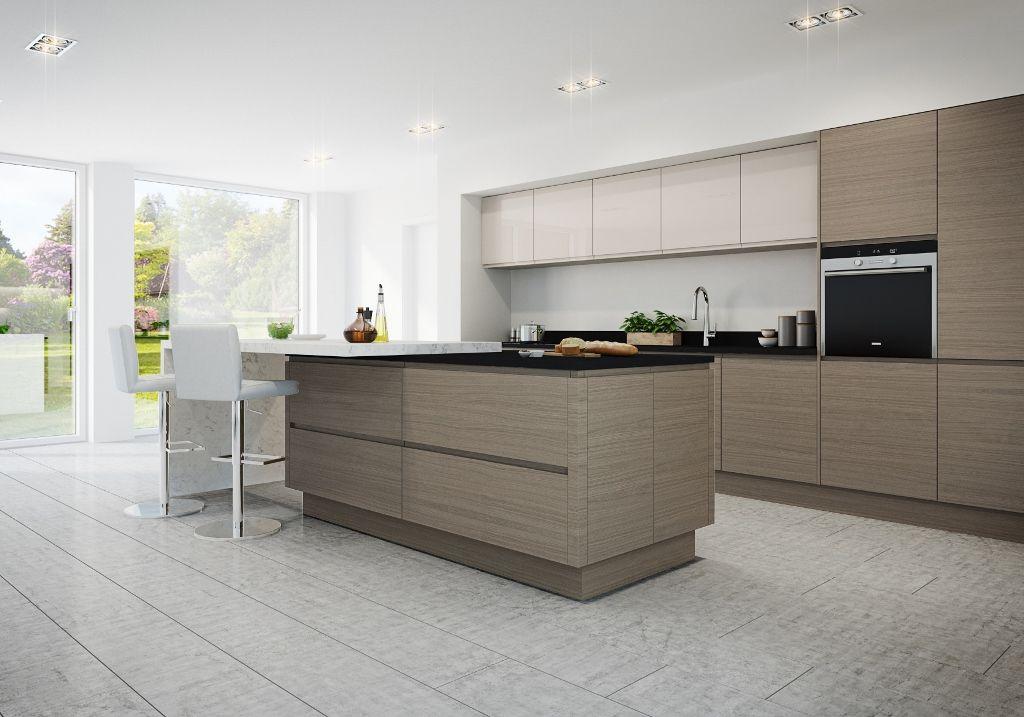 Best Burbidge S Isala Kitchen In Warm Grey Oak With Malmo 640 x 480