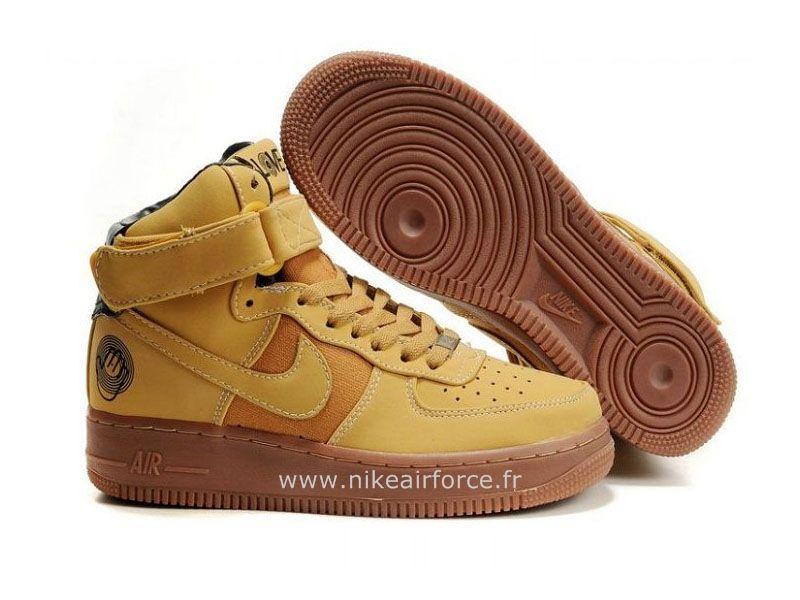 Mid Homme pour De Foin Nike Air Chaussure Force Nike 1 Meule