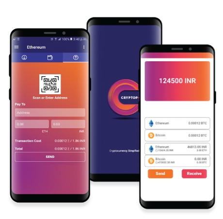 Cryptocurrency wallet system page