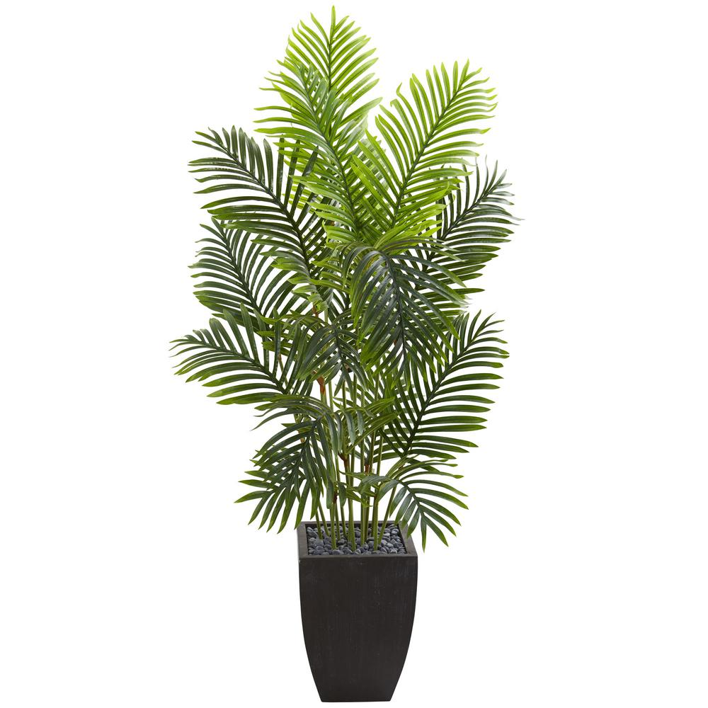 Nearly Natural Indoor 5 5 Ft Paradise Palm Artificial Tree In Square Planter 5670 The Home Depot In 2020 Square Planters Artificial Tree Small Artificial Plants