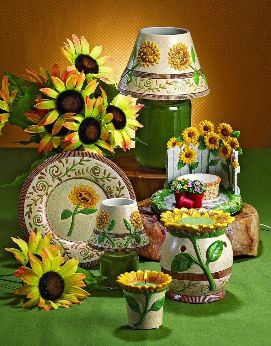 Tuscan sunflower candle accessories spring summer garden maize