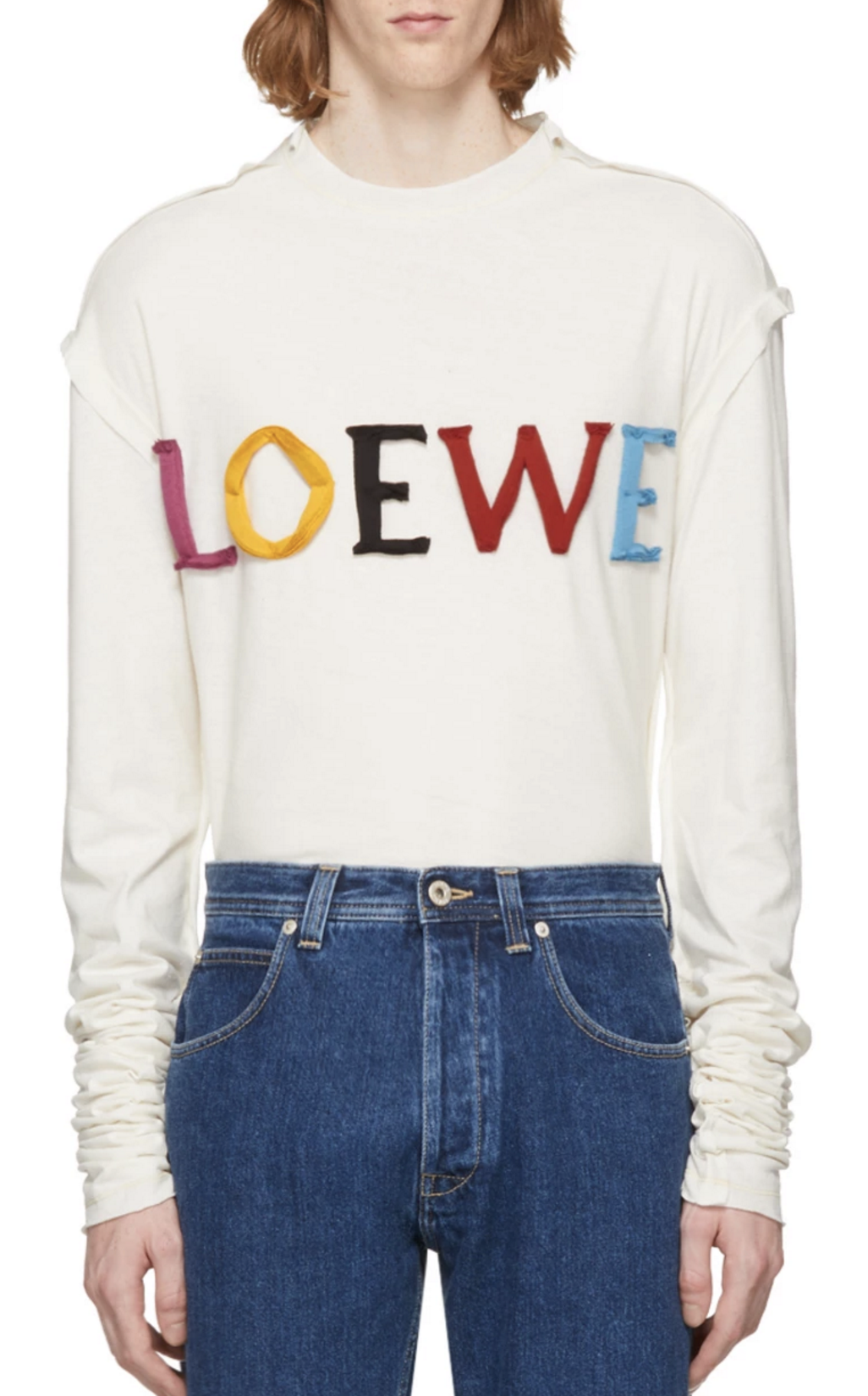 bf0cff85 Loewe Off-White Long Sleeve 'Loewe Colors' T-Shirt from SSENSE (men, style,  fashion, clothing, shopping, recommendations, stylish, menswear, male, ...