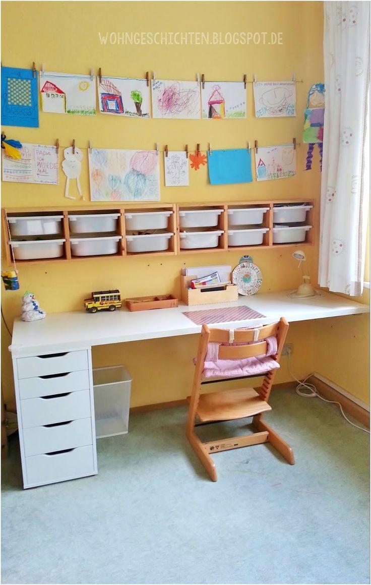 Unser Neues Kinderzimmer Schreibtisch Jugendzimmer Kinder Zimmer Etagenbett Schreibtisch