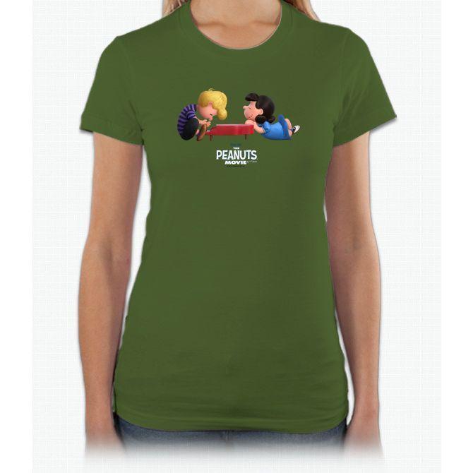 Schroeder And Lucy Movie Short Sleeve Women T-Shirt