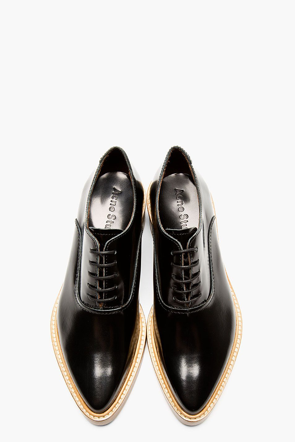 f94b7d9ef924 ACNE STUDIOS Black Leather Carla Oxfords Chaussure Chic, Styliste,  Escarpins, Soulier, Bottines