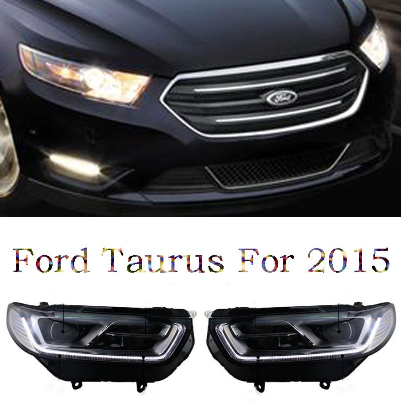 Free Shipping Hid Rio Led Headlights Headlamps Hid Hernia Lamp Accessory Products For Ford Taurus 2016 Led Headlights Ford Taurus